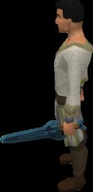 Off-hand rune sword equipped