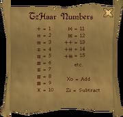 TzHaar numbers