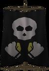 Bronze fist flag detail