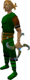 Augmented Off-hand Shadow glaive equipped
