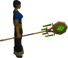 Banner of Bandos (tier 2) equipped