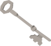 Steel key (H.A.M.) detail
