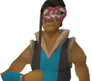 Handheld masquerade mask