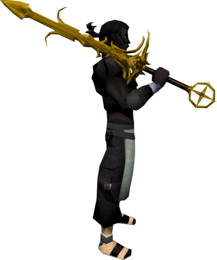 File:Golden Saradomin godsword equipped.png