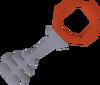 Silver key crimson detail