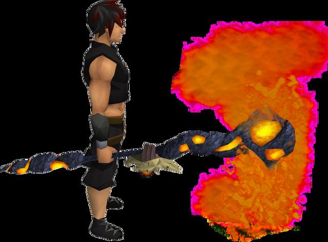 File:Skeletal lava battlestaff equipped.png
