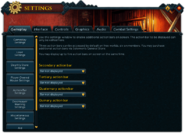 Settings (Gameplay) interface