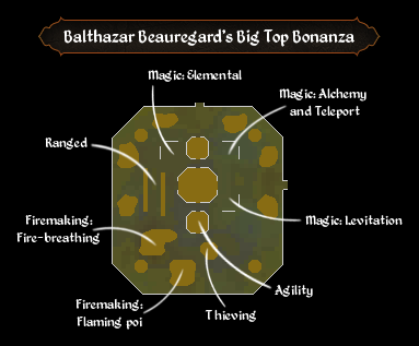 Balthazar Beauregard's Big Top Bonanza map