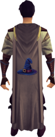 Magic cape equipped