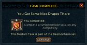 Task complete side popup