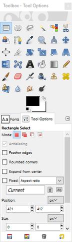File:GIMP - toolbox window.png