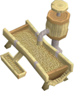 Oak pet feeder detail