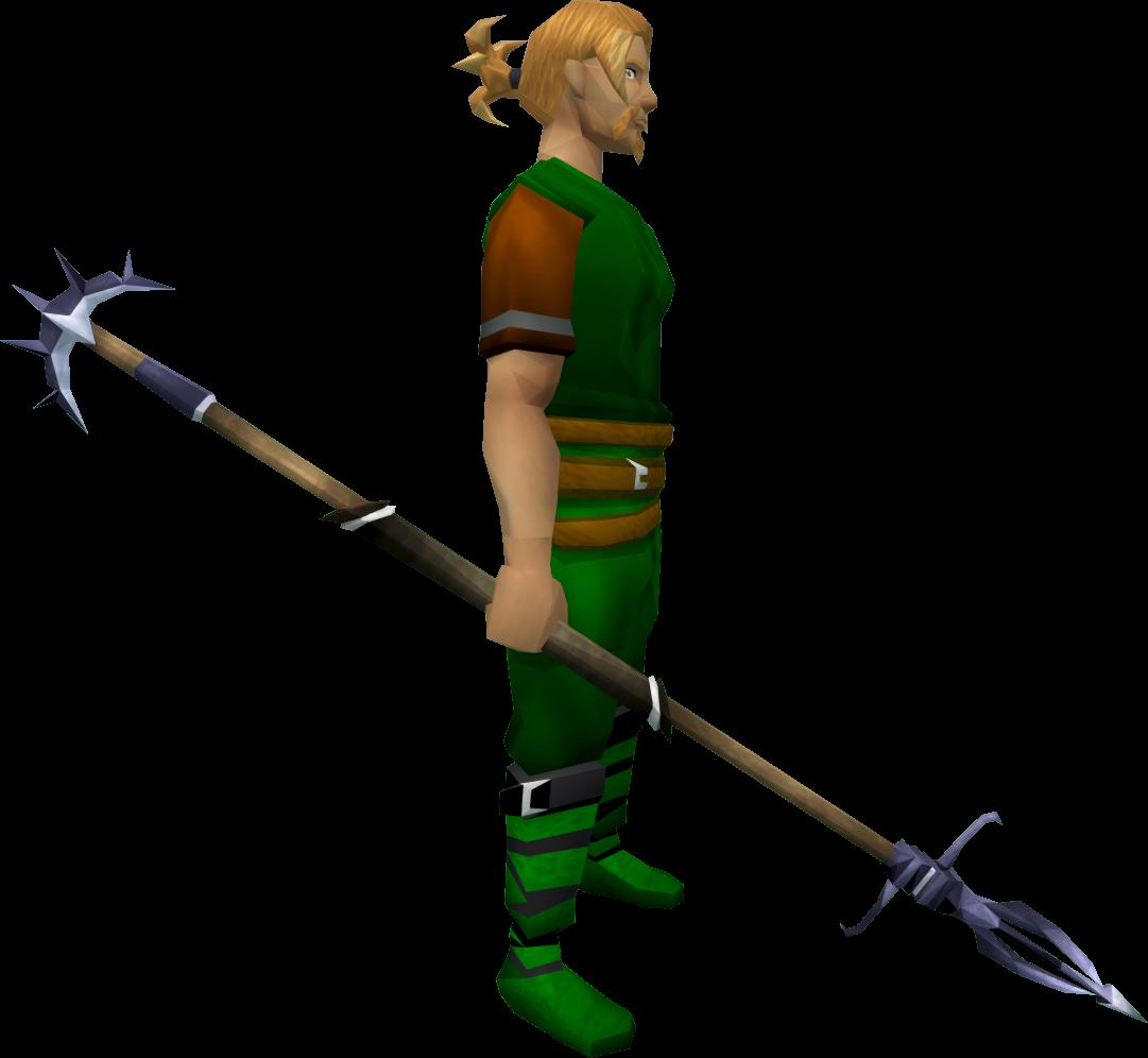Zamorakian spear equipped.png