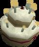 10th anniversary cake detail