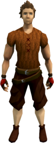 Atrocious rogue gloves equipped