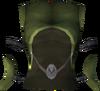 Elf-style dress top (green) detail