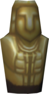 Golden idol detail
