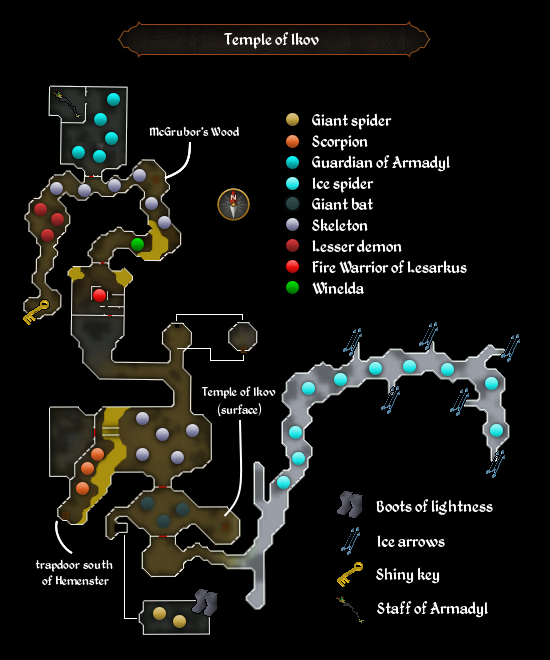 Temple of Ikov map