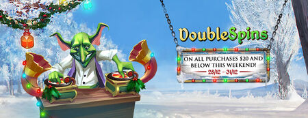 Winter Double Spins banner