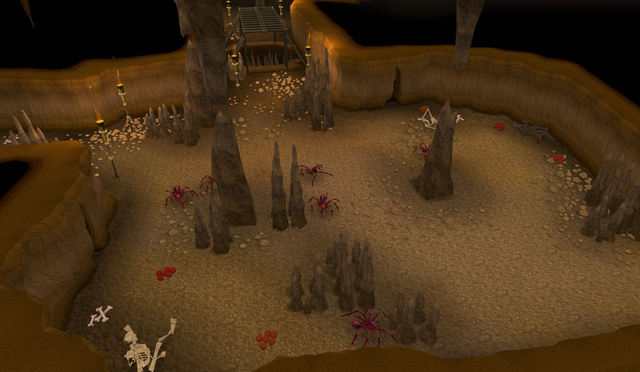 File:Edgeville Dungeon Wilderness spiders.png