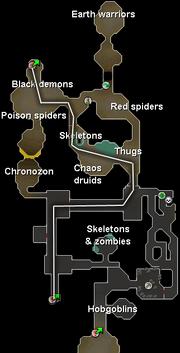 Charging air orbs map
