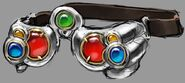 Chrome goggles concept art