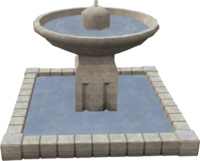 Rough-hewn fountain
