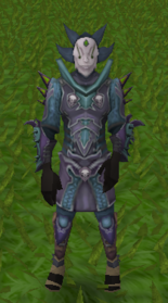 Sliske's Parody (refined) armour equipped