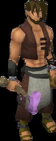 Novite warhammer equipped