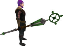 Ancient staff (green) equipped