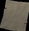 Scrap of parchment detail