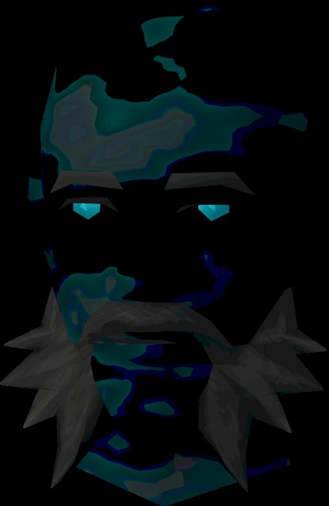 Ghostly druid head detail