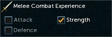 Combat Experience melee