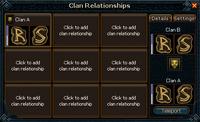 Clan relationships interface