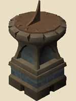 Marble sundial