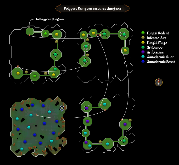 Polypore Dungeon resource dungeon map
