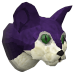 Pet kitten (purple) chathead