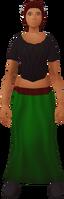 Retro long, narrow skirt