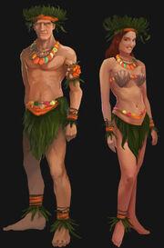 Tropical Islander outfit artwork