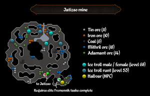Jatizso mine ore spots map