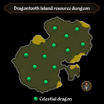 Dragontooth Island resource dungeon map