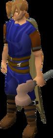 Off-hand warhammer (class 1) equipped