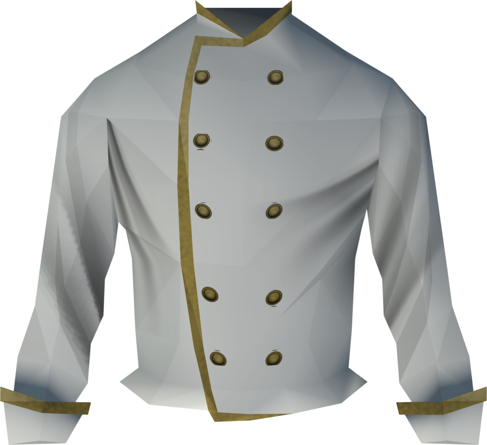Sous chef's jacket detail