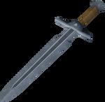 Steel sword detail