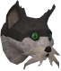 Wily cat (white and black) chathead