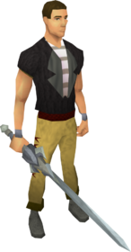 Chaotic longsword equipped
