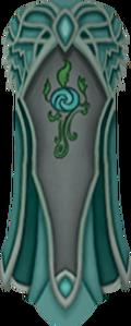 Clan Meilyr cape detail