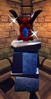Sapphire statuette plinth