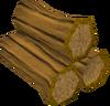 Arctic pine logs detail