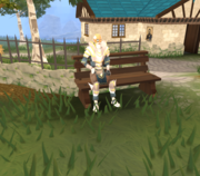 Tiffy on bench